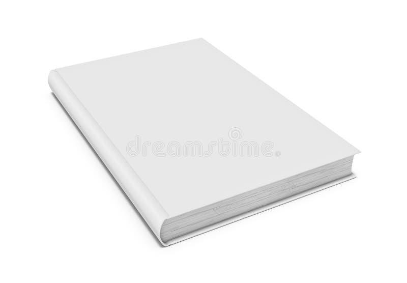 Vitmellanrumsbok på vit bakgrund royaltyfri illustrationer