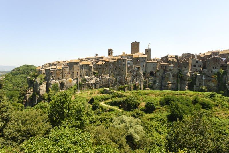 Vitorchiano, vecchia città fotografia stock
