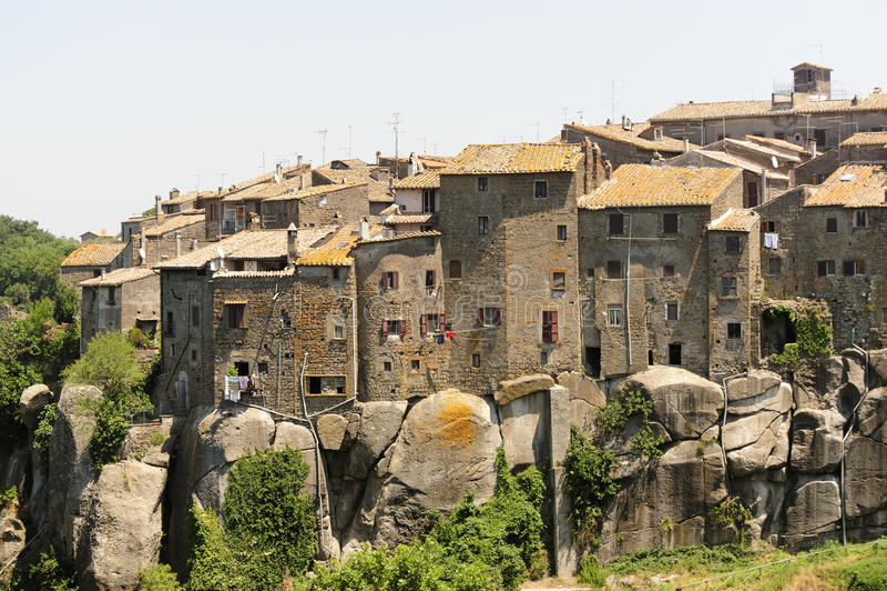 Vitorchiano, vecchia città immagini stock libere da diritti