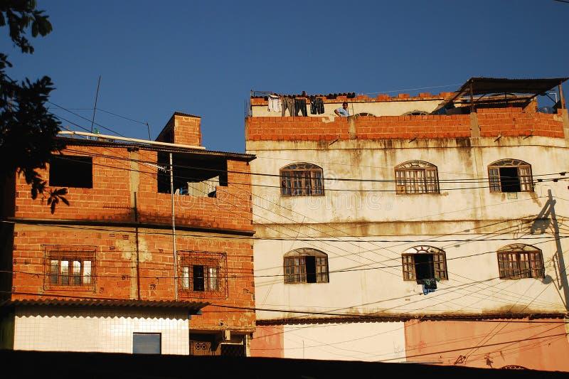Facade of Poor Neighborhood in Brazil_01. 2010 - Vitoria-ES, Brazil. Facade of Poor Neighborhood in Brazil_01. Photo: Marco Franco stock photos