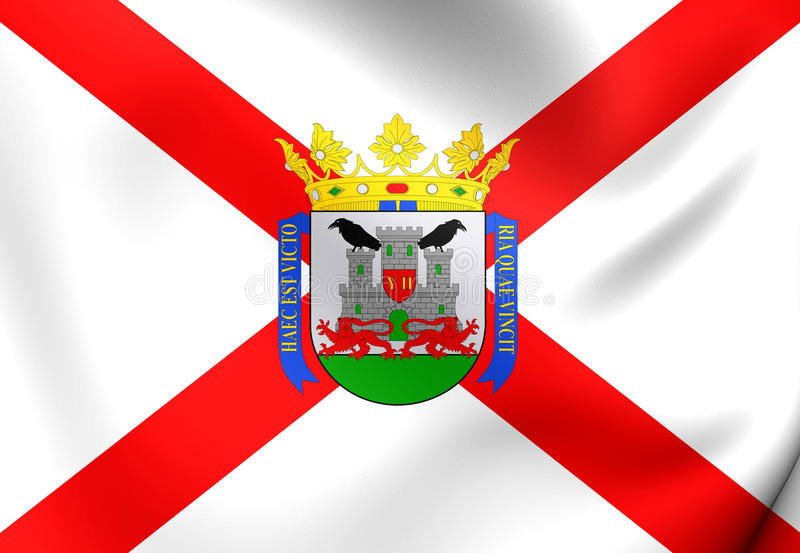 Vitoria-Gasteiz的旗子,巴斯克地区 库存例证