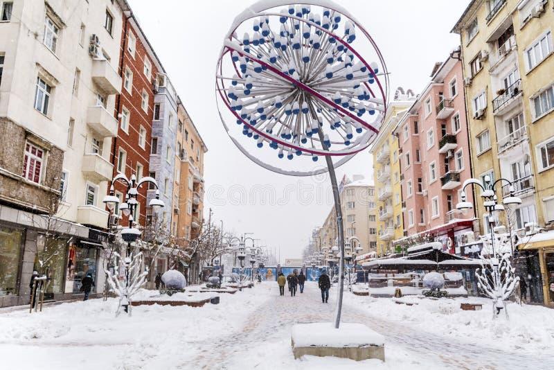 Download Vitosha Street With Snow In Sofia,Bulgaria Editorial Photo - Image: 83719551