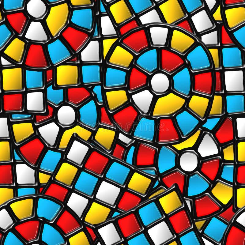 vitrage картины безшовное иллюстрация вектора