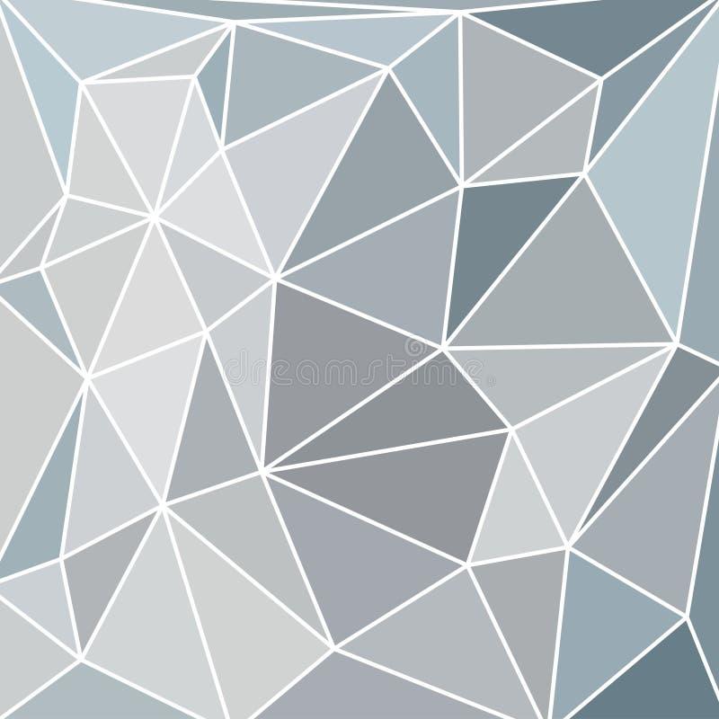 Vitrage abstrait avec la grille triangulaire de gamme de gris illustration libre de droits