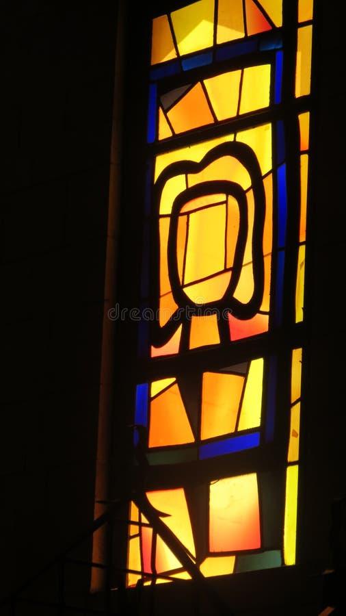 Vitrage en la iglesia del anuncio foto de archivo libre de regalías