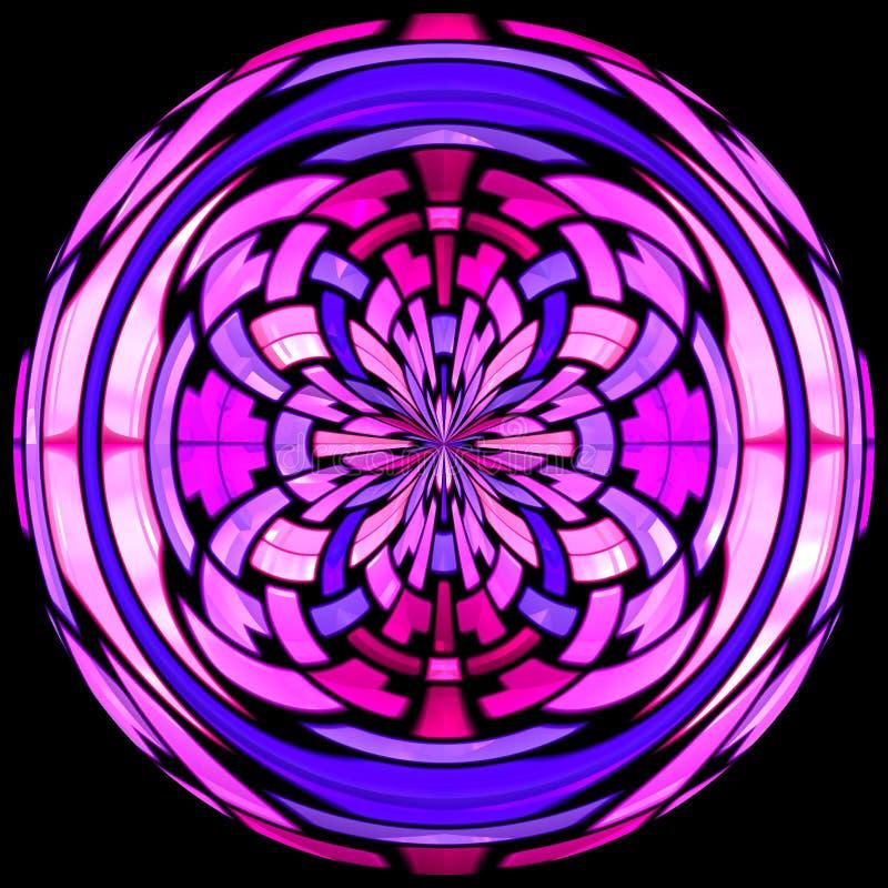 Vitrage van het gebrandschilderd glas met abstract patroon royalty-vrije illustratie