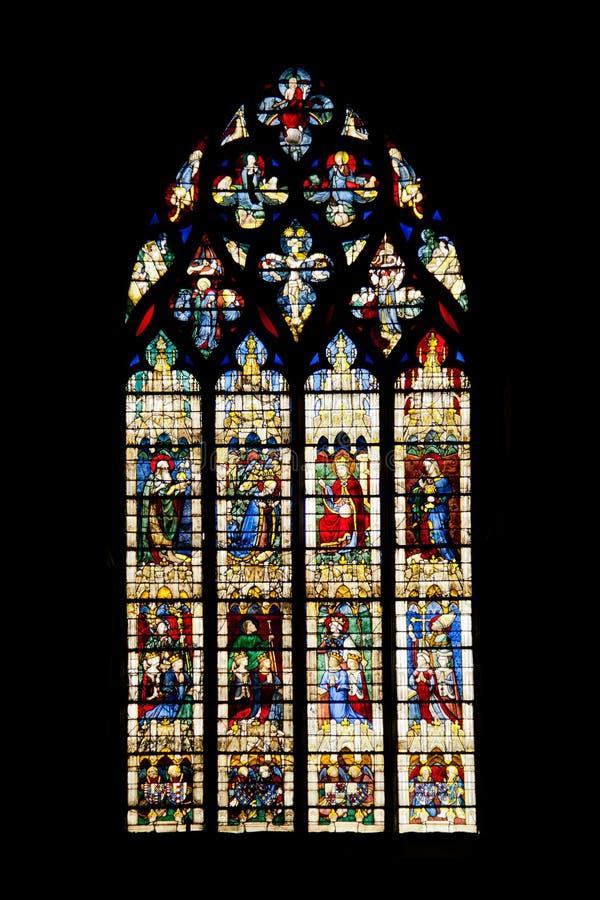 Vitrages de la catedral de Chartres imagen de archivo