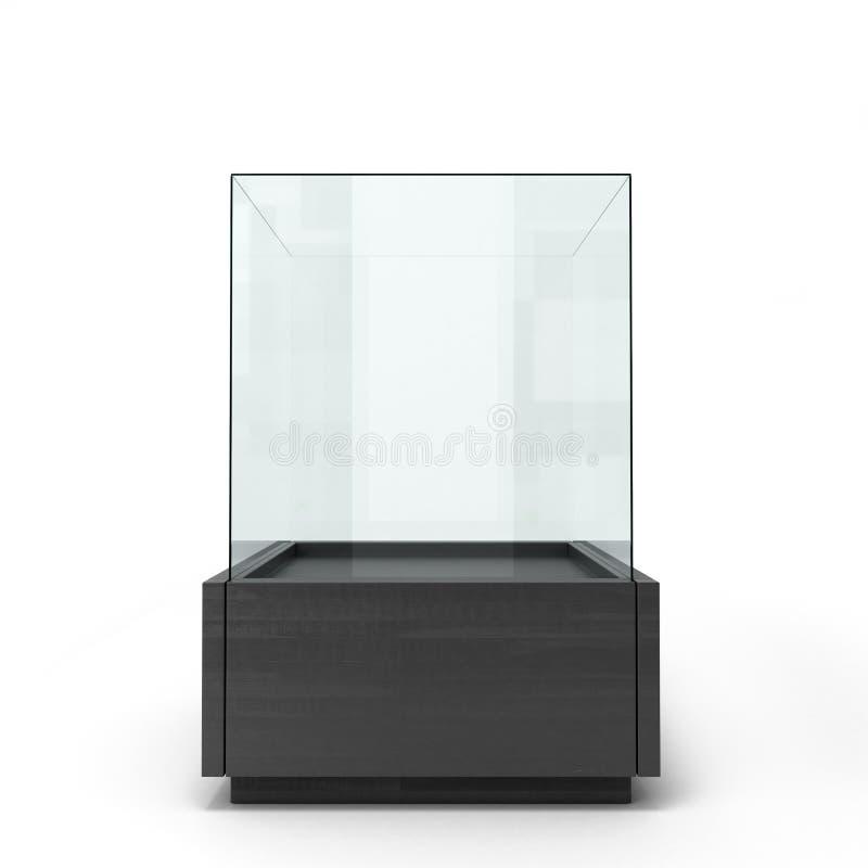 Vitrail noir sur une vue de face de fond blanc illustration stock