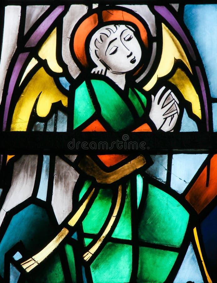 Vitral - anjo imagens de stock royalty free