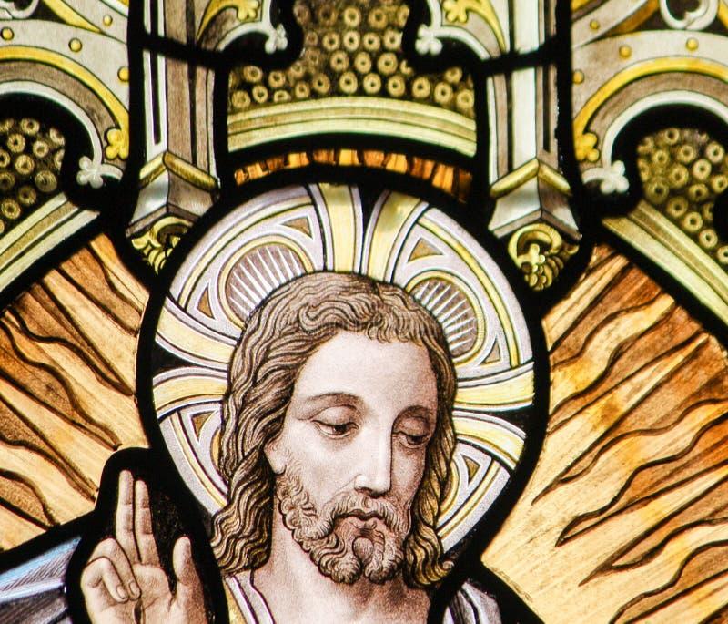 Vitral - ascensión de Jesús imágenes de archivo libres de regalías