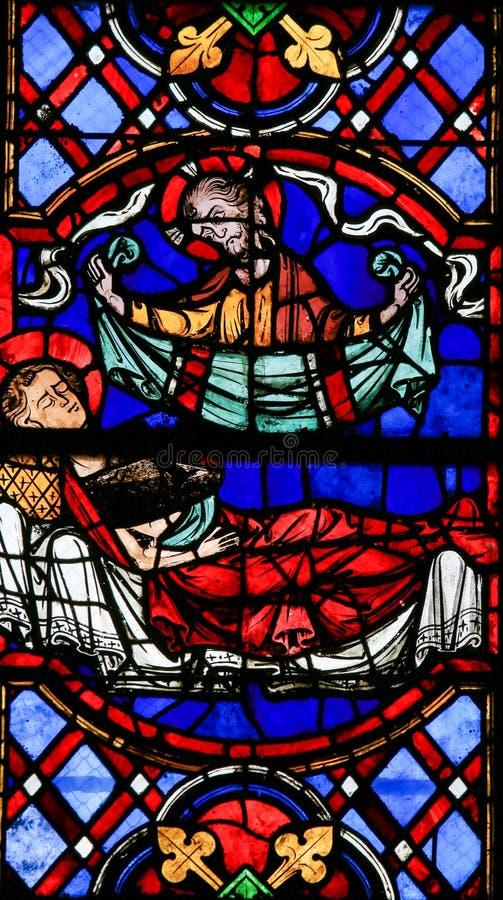Vitral - catedral das excursões fotos de stock royalty free