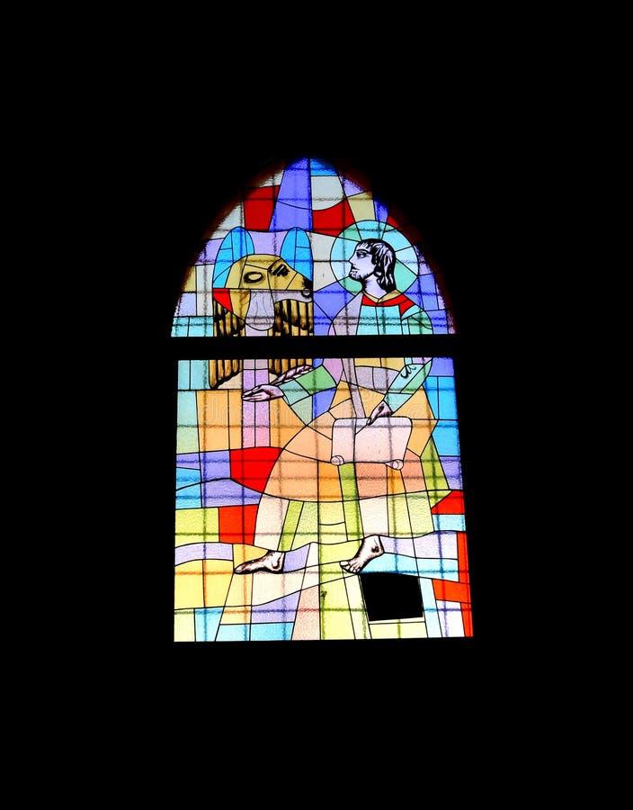Vitral da igreja fotografia de stock royalty free