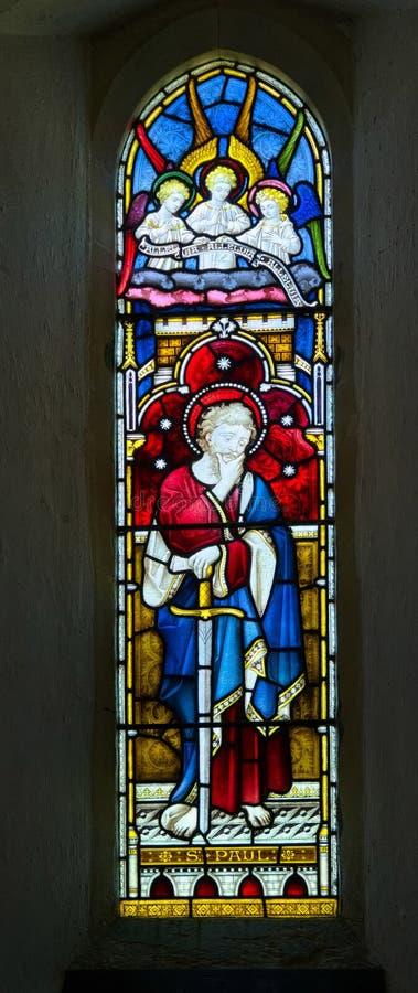 Vitral de San Pablo imágenes de archivo libres de regalías