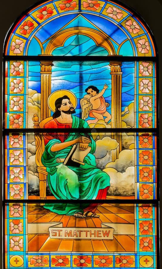 Vitral do católico de Filipinas imagens de stock royalty free