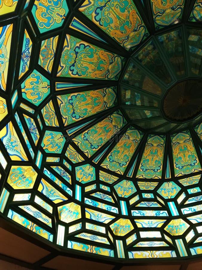 vitral en un techo fotografía de archivo