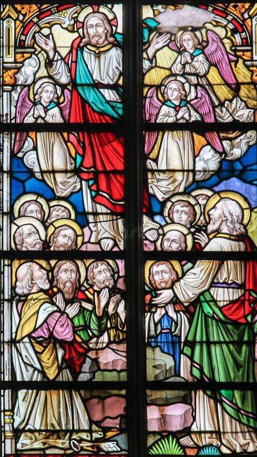 Vitral - ressurreição de Jesus imagem de stock royalty free