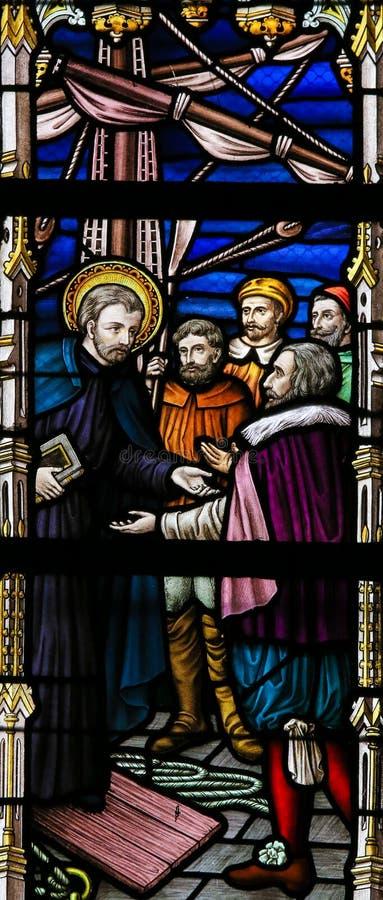 Vitral - Saint Francis Xavier foto de stock