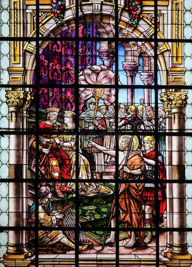 Vitral - San Juan Bautista imágenes de archivo libres de regalías