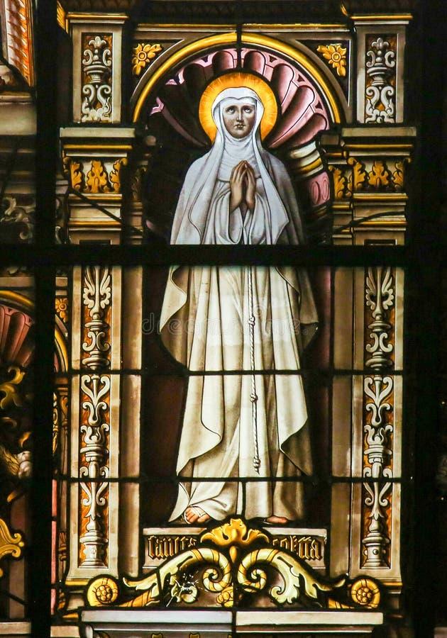 Vitral - santo de rogación imagen de archivo libre de regalías