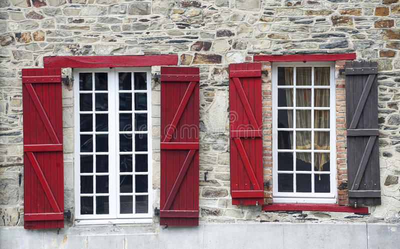 Vitre, Brittany, Finestre Fotografia Stock Libera da Diritti
