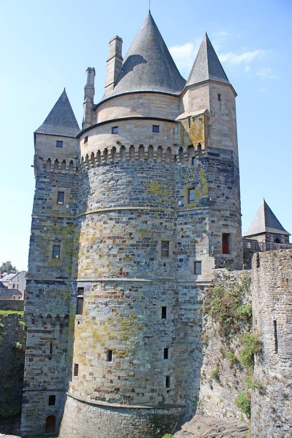 Vitre Castle, France royalty free stock photos