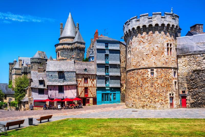 Vitre Città Vecchia, Bretagna, Francia immagine stock