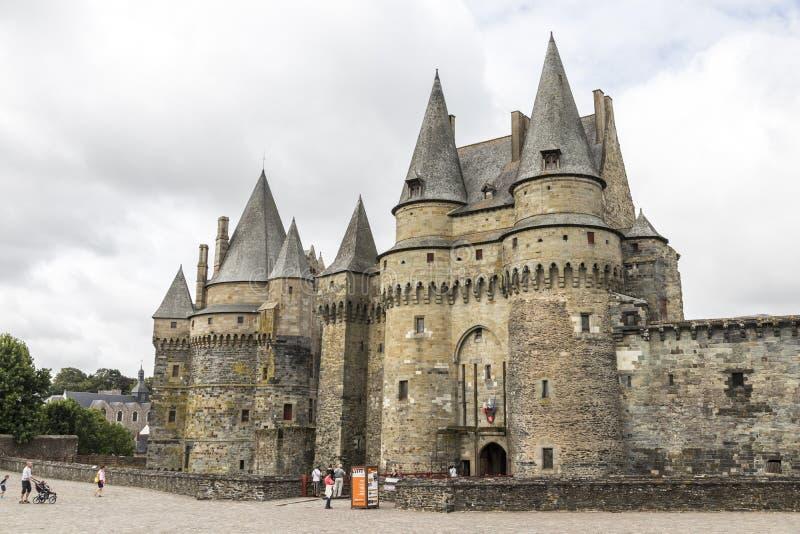 Vitre-Schloss, Frankreich lizenzfreies stockbild