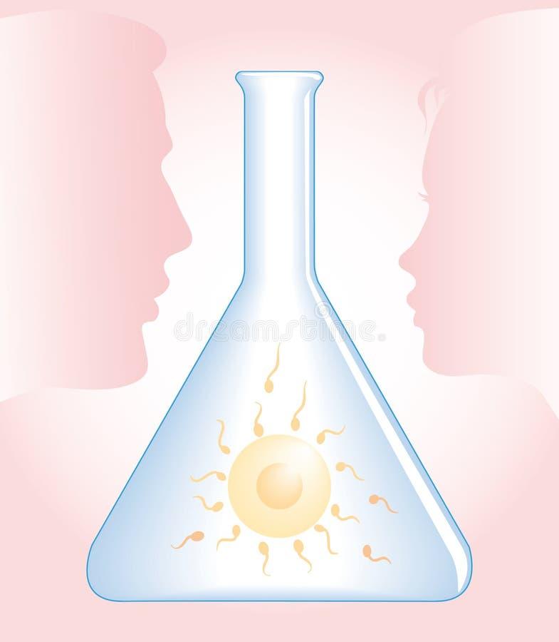 In vitro fecundação IVF ilustração royalty free