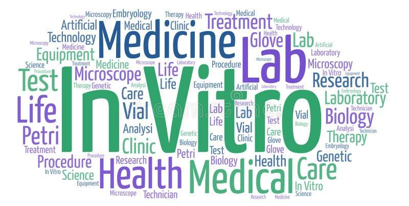 In vitro nuvola di parola del txt illustrazione vettoriale