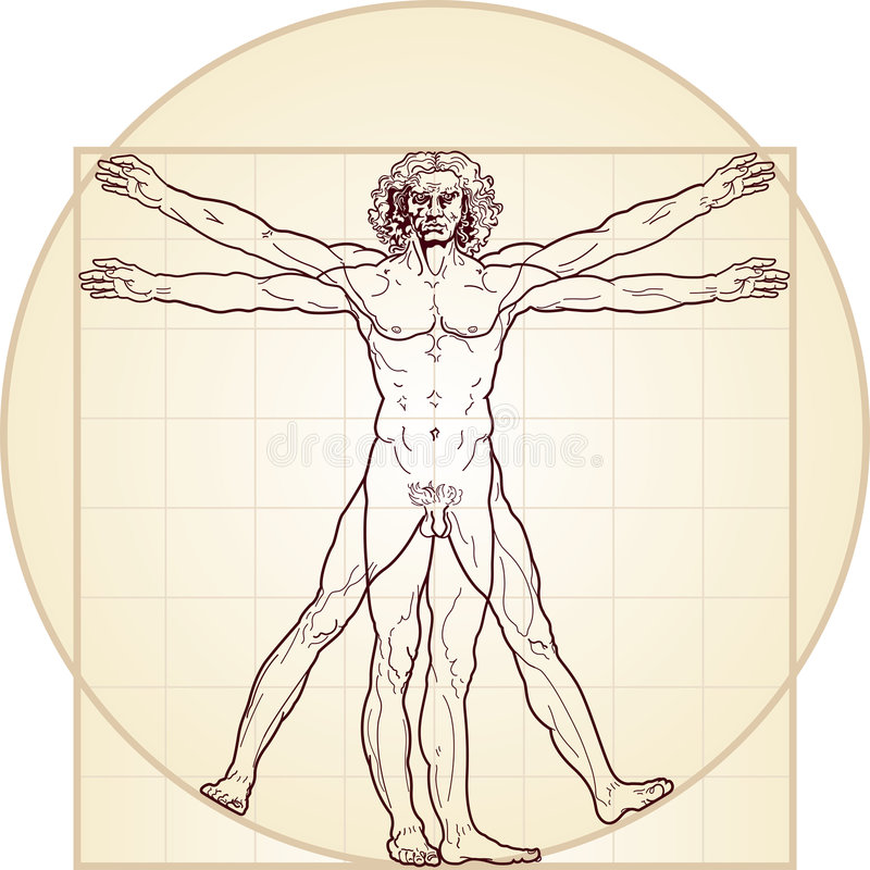 The Vitruvian man royalty free illustration
