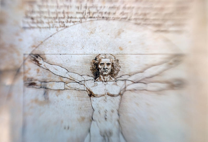 Vitruvian Man - Leonardo Da Vinci Editorial Photography