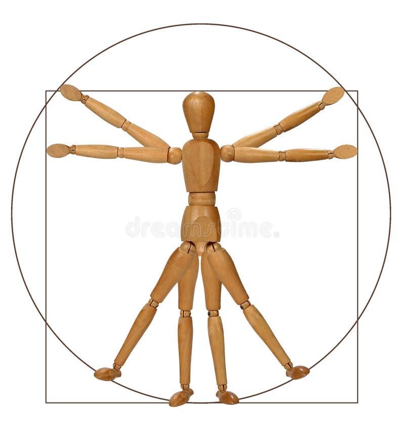 Vitruvian Man (A Modern Rendition). Modern graphical rendition of the Vitruvian man royalty free stock photos