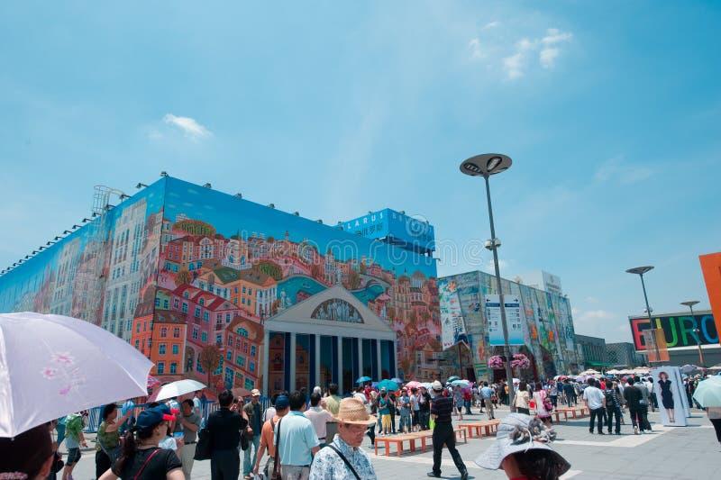 Vitryssland för expo för kinesShanghai värld paviljong 2010 royaltyfri fotografi