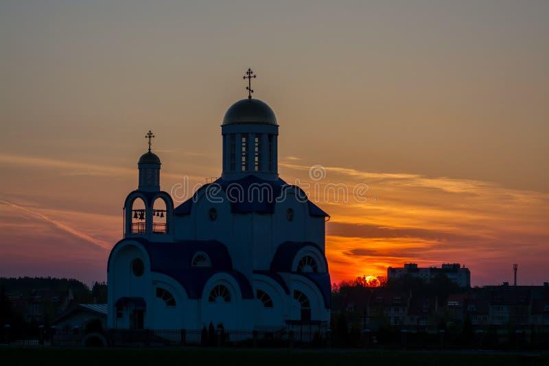 Vitryssland G Zhodino kyrka, arkivfoto