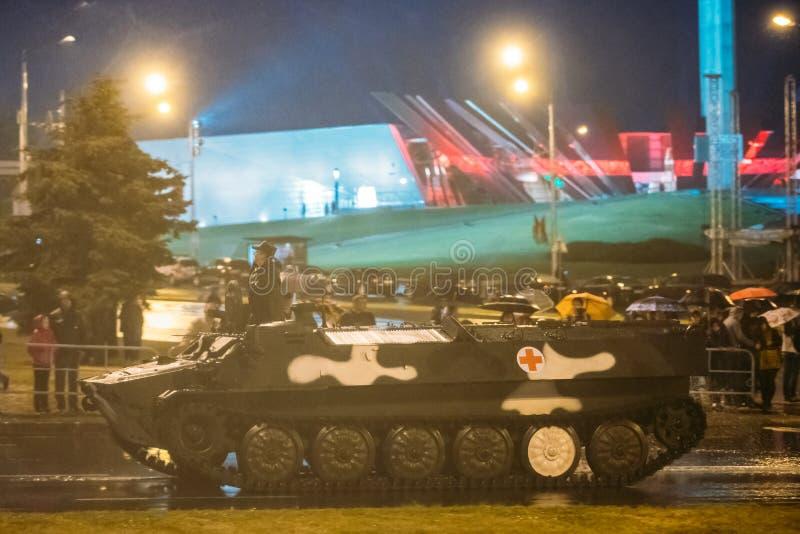 Vitryssland Minsk Infanteristridighetmedlet eller infanteri bekämpar Veh arkivfoto