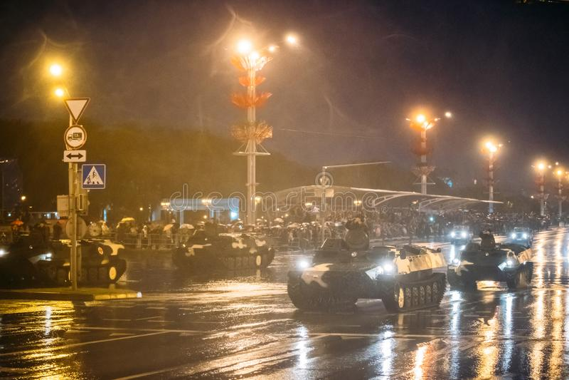 Vitryssland Minsk Infanteristridighetmedlet eller infanteri bekämpar Veh fotografering för bildbyråer