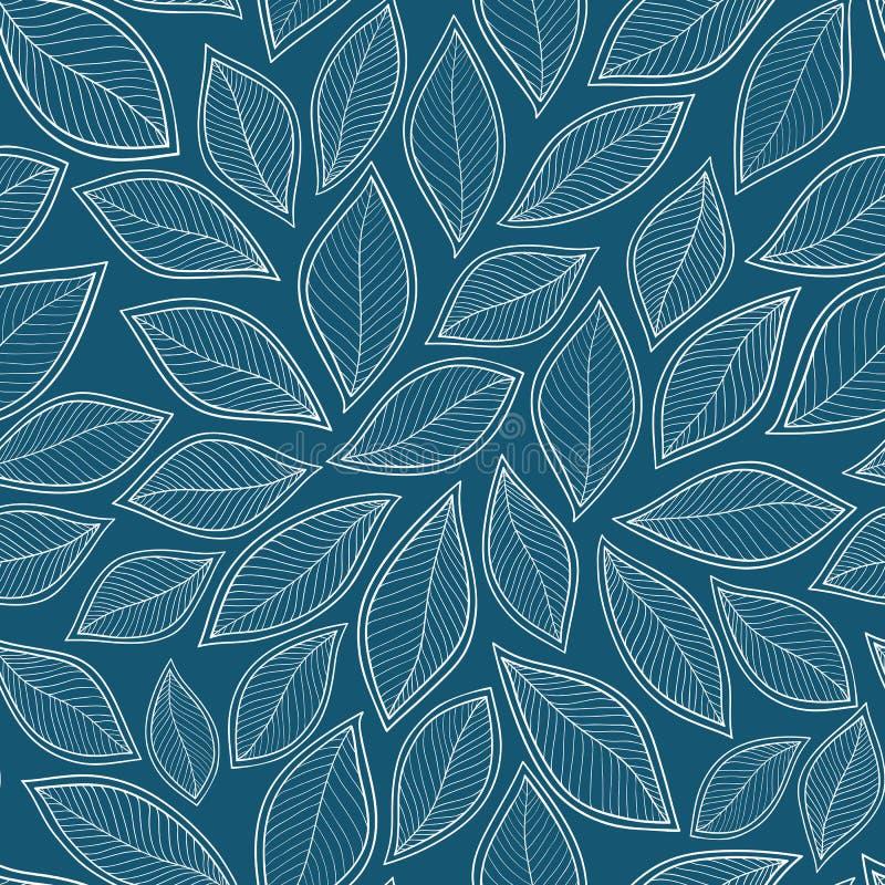 Vitsidor på en sömlös abstrakt hand för blå bakgrundsvektor stock illustrationer