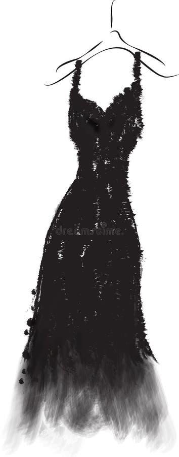 Vitsvartklänning royaltyfria bilder