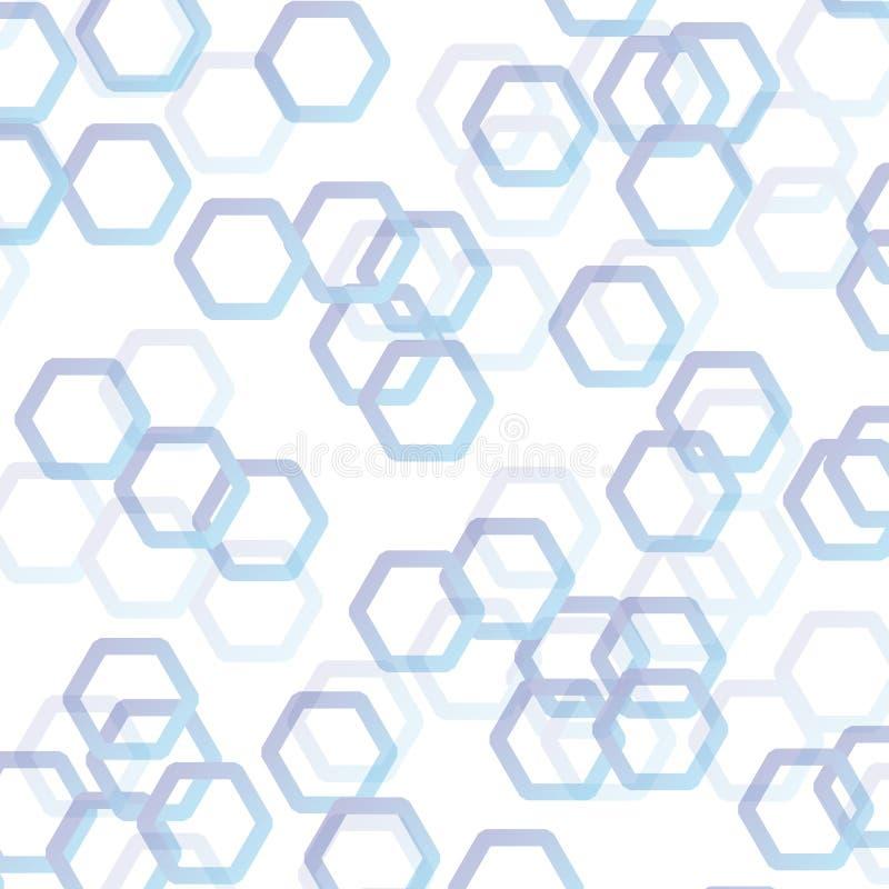 Vitt abstrakt begrepp med blå polygonvektorbakgrund royaltyfri illustrationer