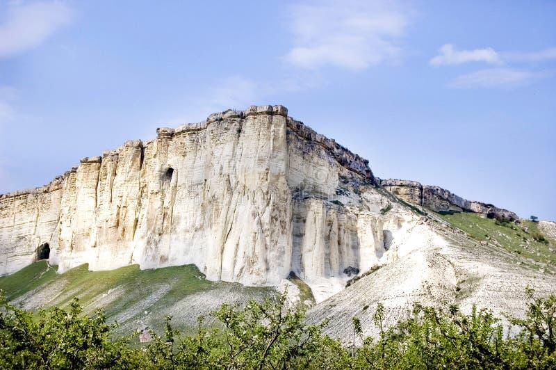Vitt berg Krim arkivfoto