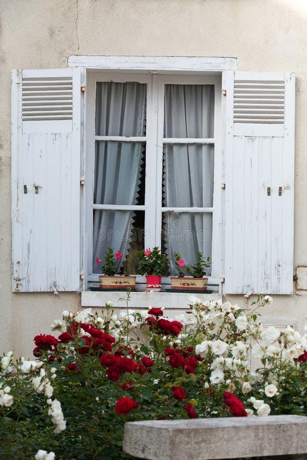 Vitt fönster fotografering för bildbyråer