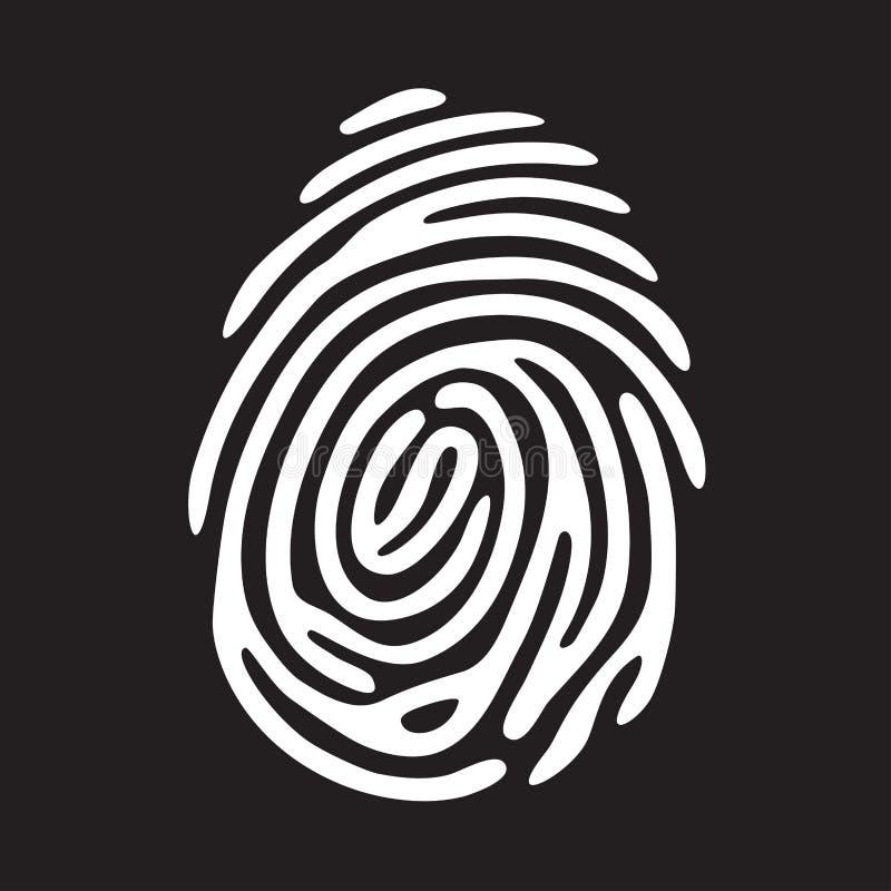 Vitt fingeravtryck royaltyfri illustrationer