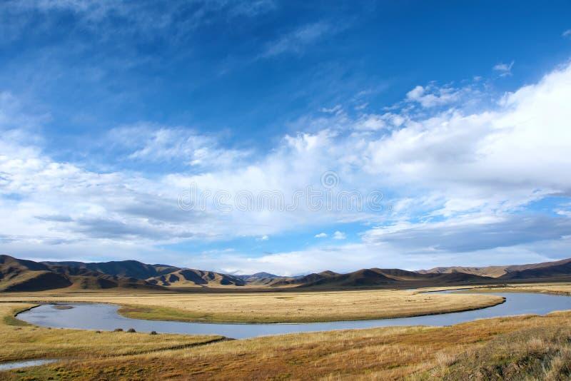 Download Vitt flodlandskap arkivfoto. Bild av platå, krokigt, högslätt - 27279488