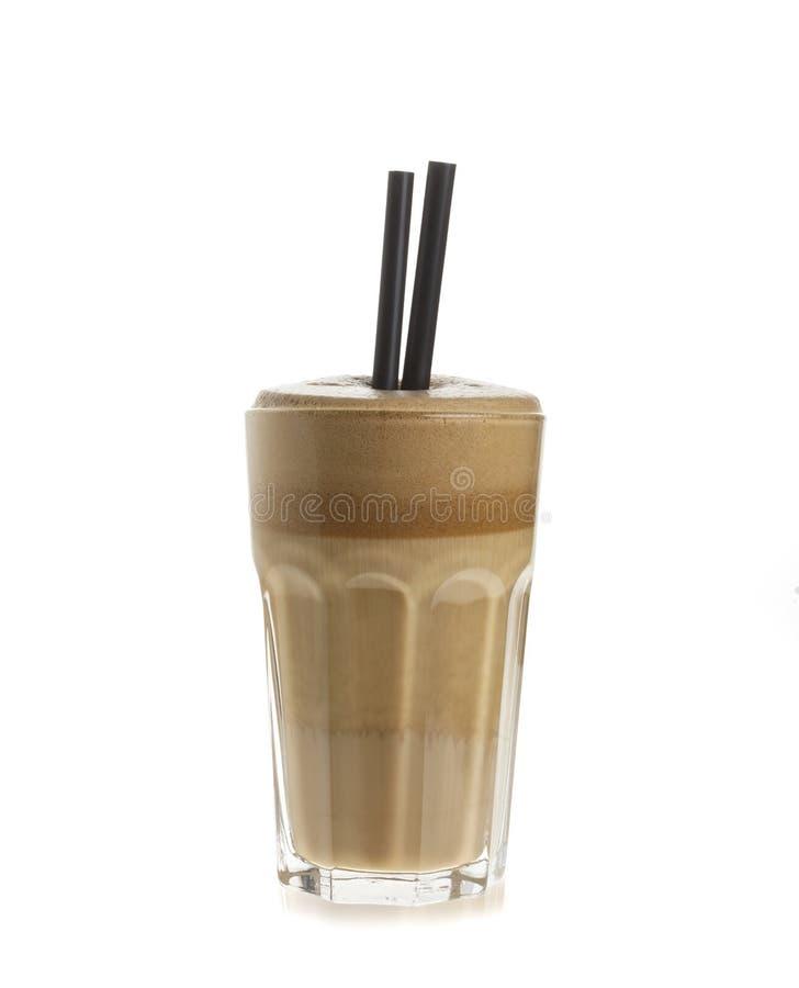 Vitt Frappe kaffe arkivbild