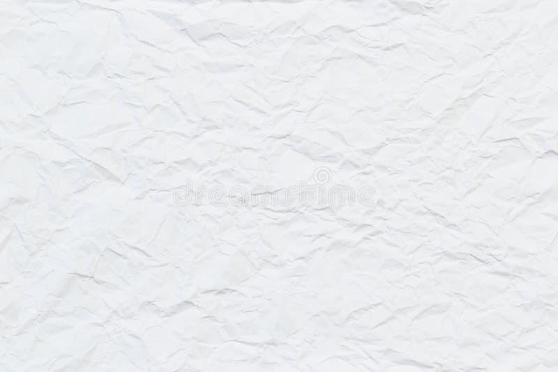 Vitt gammalt papper rynkade textur eller bakgrund för din design arkivbilder
