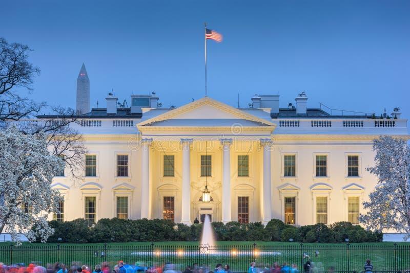 Vitt hus för Washington DC royaltyfri fotografi