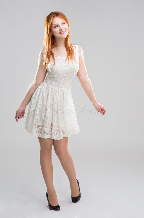 vitt kvinnabarn för klänning arkivbilder