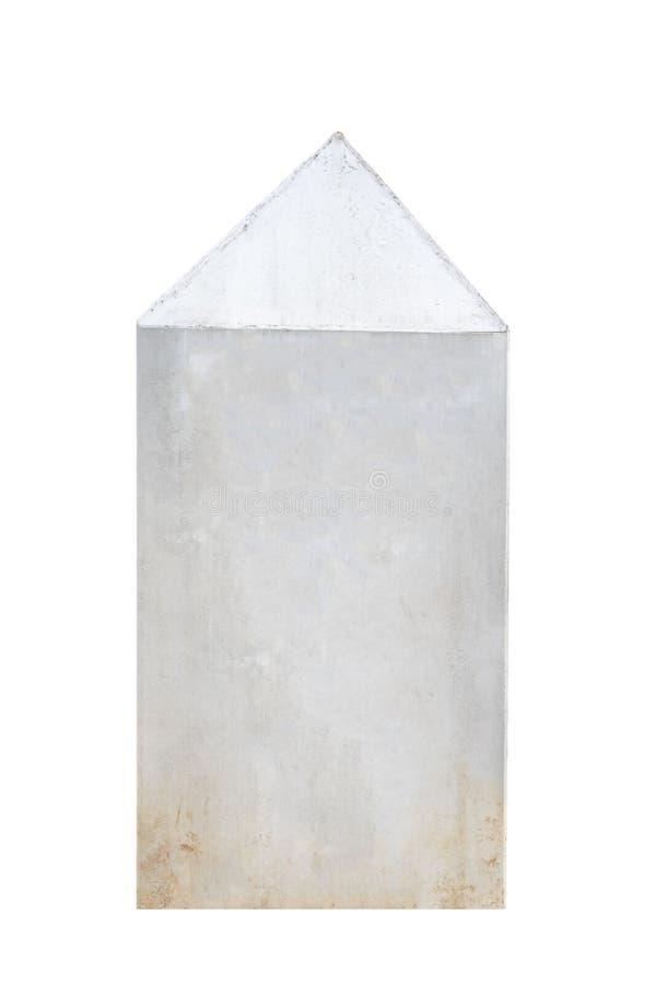Vitt mellanrum för gavel för sockelpolsten på vit bakgrund arkivfoton