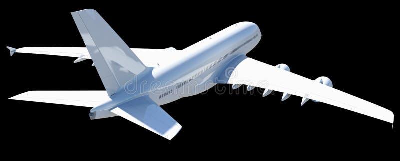 Vitt modernt flygplan fotografering för bildbyråer