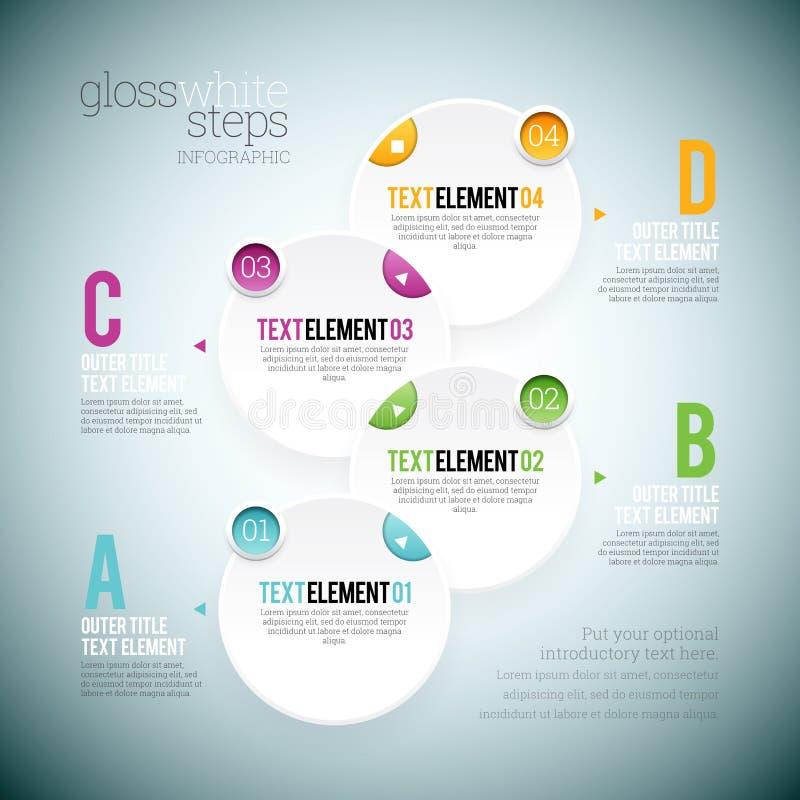 Vitt moment Infographic för glans stock illustrationer